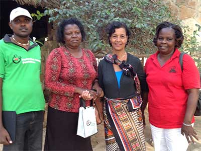 Samuel, Margaret Ikiara of CIFORD-Kenya, Sayydah and Lucy