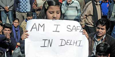 Capital shame: Protesters mourn the death of a gang-rape victim at Jantar Mantar in New Delhi. — Kamal Narang