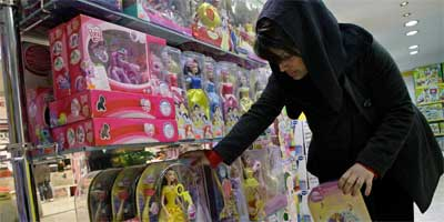 Shopping for toys in Iran