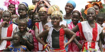 Girls that Senegal's NGO Tostan has helped avoid FGM
