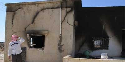 The residents left in Qubair accused neighbouring Alawite villagers of torching their homes in an attempt to take their land | Photo: UN