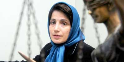 Nasrin Sotoudeh, a prominent lawyer who defended political activists, opposition members, and juvenile offenders on death row, has been in jail since September 2010.