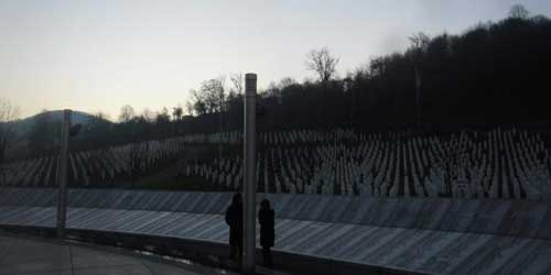 Burial site at Srebrenica