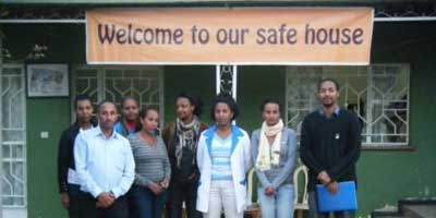 Safe House run by the Association for Women's Sanctuary and Development (AWSAD)