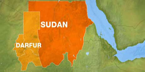 Map of Sudan and Darfur