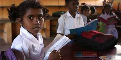 School girl in Sri Lanka