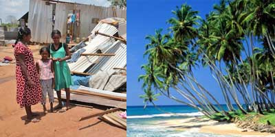 Sri Lankan refugees and tourist image of Sri Lanka