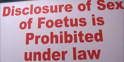 Poster about Foeticide in India