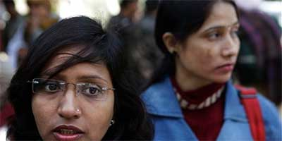 Sandhya Jadon, 26, a lawyer from the northern town of Agra, speaks to AP in New Delhi, India
