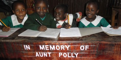 Desks donated to Compassion CBO In Memory of Aunty Polly